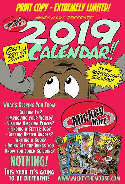 Mickey Mart 2019 Calendar