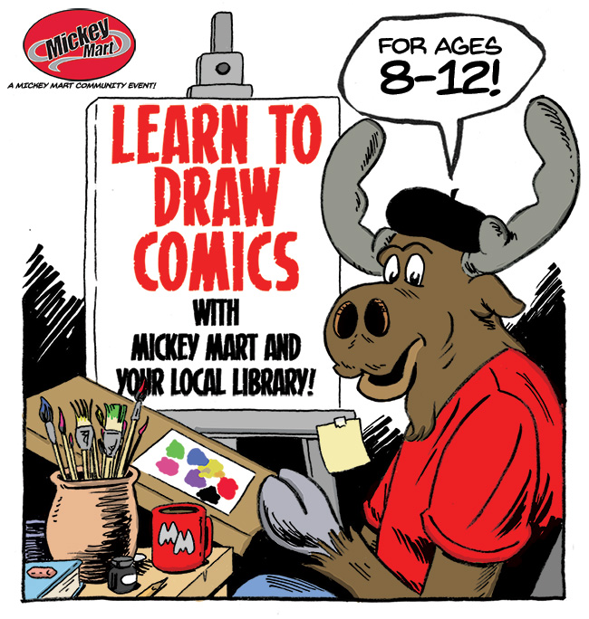 Mickey Mart's How to Draw Comics Ad